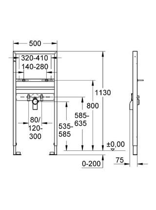 Инсталляция для раковины Grohe Rapid SL 38554001 (38554 001)
