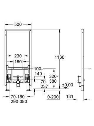 Инсталляция для подвесного биде Grohe Rapid SL 38553001 (38553 001)