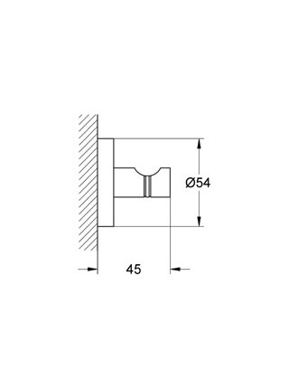 Крючок одинарный Grohe  Essentials 40364001 (хром глянец)