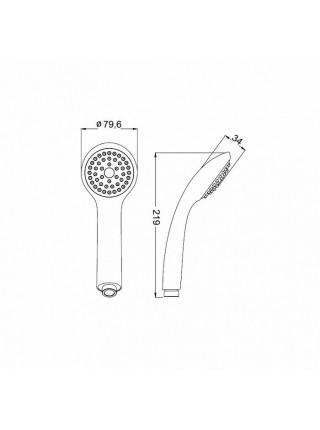 Ручной душ Iddis A11011 (хром глянец, 1-режим)