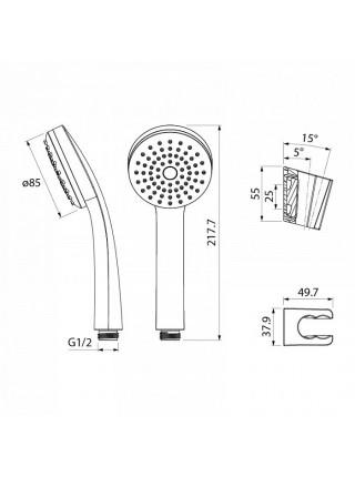Душевой комплект Iddis 0011F00i16 (хром глянец)