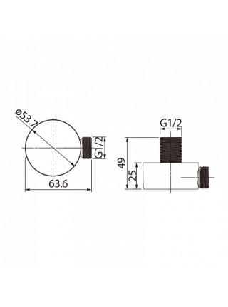 Шланговое подключение Iddis 002SB00i62 (хром глянец)