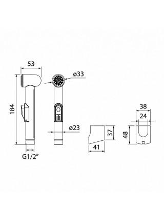 Гигиеническая лейка Iddis 010SB0Gi20 (хром глянец)