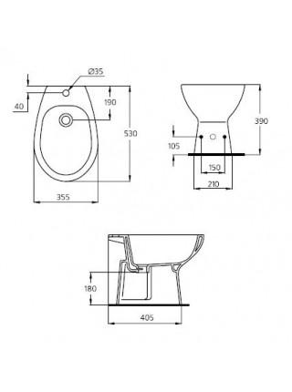 Биде напольное Ideal Standard Eurovit W804001