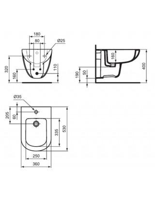 Биде подвесное Ideal Standard Tempo T510001
