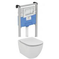 Комплект инсталляции Ideal Standard T387201 (инсталляция Prosys R020467 и унитаз Tesi T007901 (дюропластовое сиденье, микролифт))