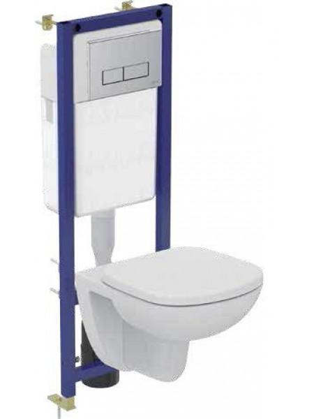 Комплект инсталляции Ideal Standard W990101 (инсталляция Ideal Standard W3710AA и унитаз Tempo T331101 (дюропластовое сиденье, микролифт))