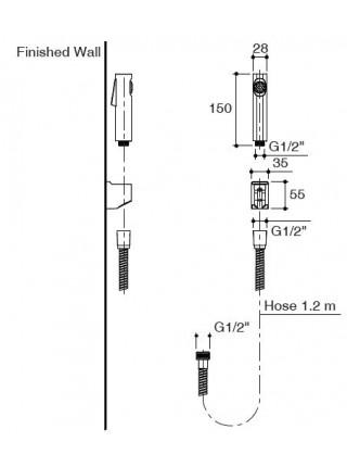 Гигиенический набор Jacob Delafon Cuff E98100-CP
