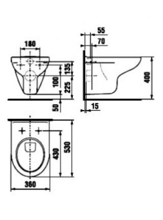 Чаша подвесного унитаза Jika Olymp 2061.1 (8.2061.1.000.000.1)