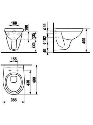 Чаша подвесного унитаза Jika Lyra 2137.2 (8.2137.2.000.000.1) (укороченный)