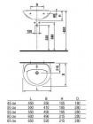 Раковина Jika Lira 1427.3 45 см. (8.1427.3.000.104.1)