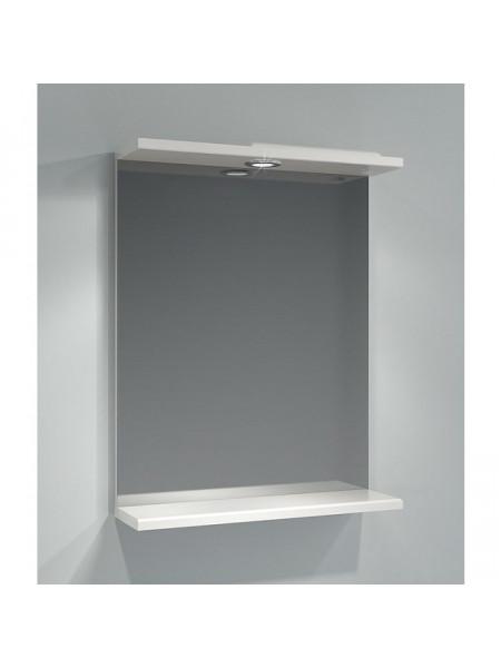 Зеркало Какса-А Эко 55 55 см. 002780 (белое, с подсветкой)