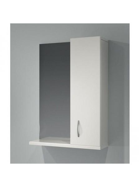 Зеркало-шкаф Какса-А Эко 55 55 см. 004081 (белое, правое, без подсветки)