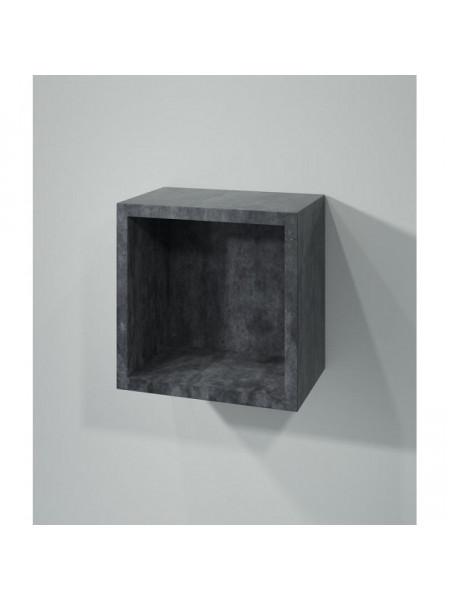 Полка кубик Какса-А Кристалл 30 30 см. 003996 (серая, подвесная, открытая)