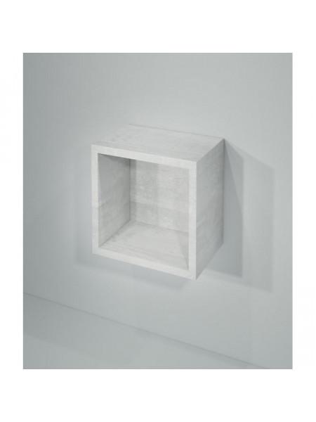 Полка кубик Какса-А Кристалл 30 30 см. 003999 (белая, подвесная, открытая)