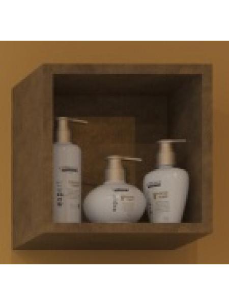 Полка кубик Какса-А Рэдиссон 30 30 см. 3955 (золотая, подвесная)