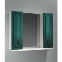 Зеркало-шкаф Какса-А Патина 80 80 см. 003987 (бело-зелёное)