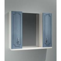 Зеркало-шкаф Какса-А Патина 80 80 см. 003961 (бело-голубое)