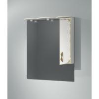 Зеркало-шкаф Какса-А Классик-Д 80 80 см. 004076 (белое-золото)