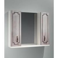 Зеркало-шкаф Какса-А Патина 80 80 см. 003986 (бело-седое)