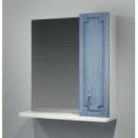 Зеркало-шкаф Какса-А Патина 65 65 см. 003984 (бело-голубое)