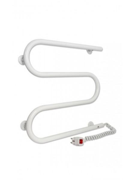 Полотенцесушитель электрический Laris М-образный ЧК 500х500 Э (белый, подключение справа)