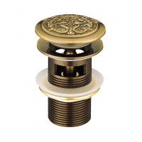Донный клапан Lemark Jasmine LM6680B (бронза, click-clack)