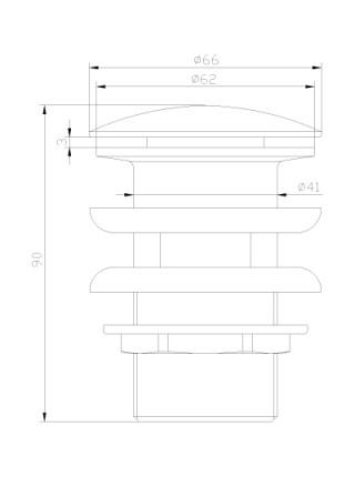 Донный клапан Lemark Jasmine LM6680ORB (чёрная бронза, click-clack)