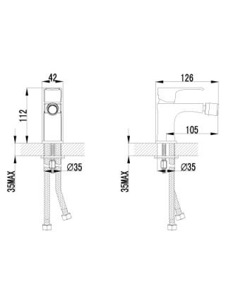 Смеситель для биде Lemark Plus Factor LM1608C (хром глянец)