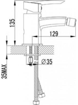Смеситель для биде Lemark Mars LM3508C (хром глянец)