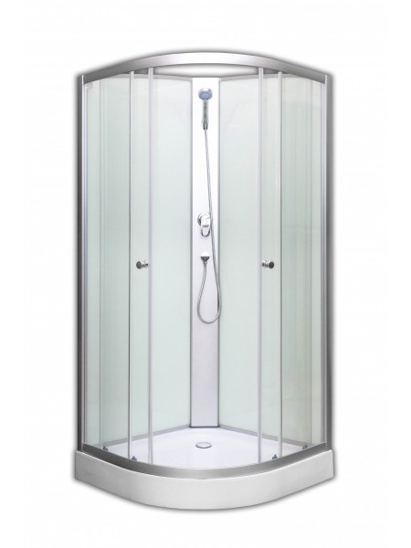 Душевая кабина Loranto CS-1762A 90х90 (прозрачное стекло, низкий поддон, без крыши)