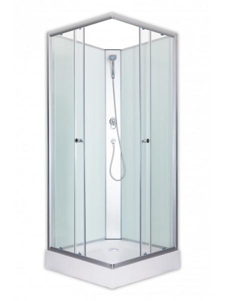 Душевая кабина Loranto CS-1762B 90х90 (прозрачное стекло, низкий поддон, без крыши)