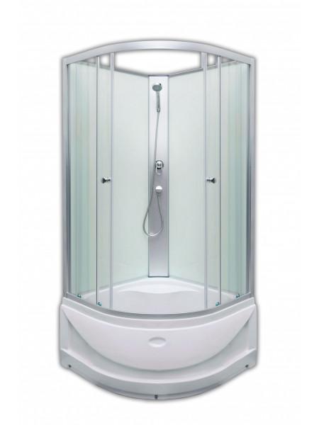 Душевая кабина Loranto CS-1762C 90х90 (прозрачное стекло, высокий поддон, без крыши)