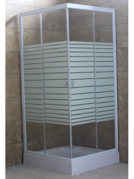 Душевой уголок Loranto CS-2239 90х90 (прозрачное стекло, низкий поддон)