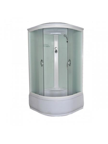 Душевая кабина Loranto CS-8010 HI F 100х100 (прозрачное стекло, высокий поддон)