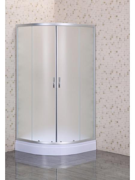 Душевой уголок Loranto CS-8025S 100х100 (матовое стекло, низкий поддон)