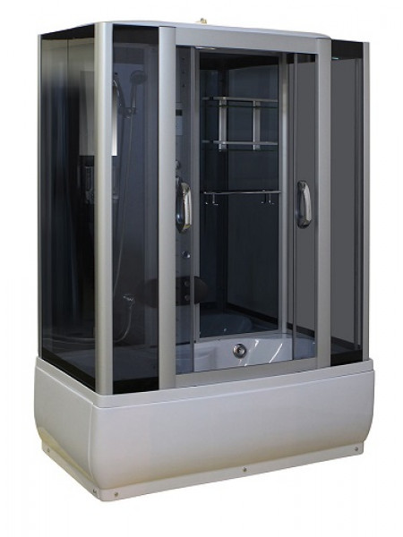 Душевой бокс Luxus 530 150х85 S (тонированное стекло, высокий поддон с парогенератором)