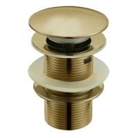 Донный клапан Melana MLN-TB50 (бронза, для раковины с переливом, click-clack)