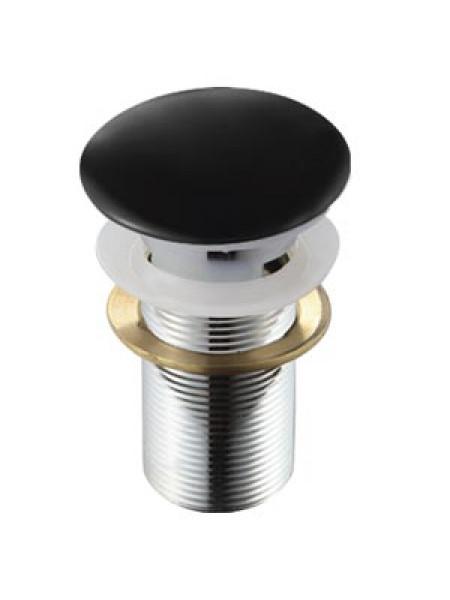 Донный клапан Melana MLN-TB18 (чёрный, для раковины с переливом, click-clack)