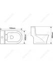 Унитаз напольный Melana MLN-2806D/2012D (дюропластовое сиденье)