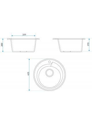 Кухонная мойка Merkana Модель 4 43х43 см. 34902 (песочная)