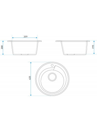 Кухонная мойка Merkana Модель 4 43х43 см. 34903 (хлопок)