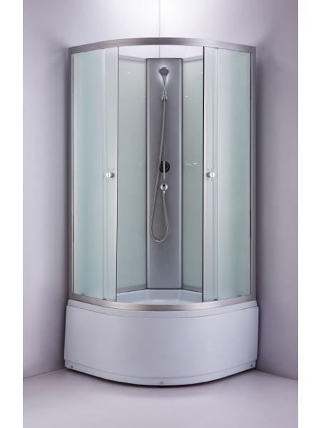 Душевая кабина Niagara NG-2308-14BK 23081424BK 90х90 (матовое стекло, высокий поддон, без крыши)