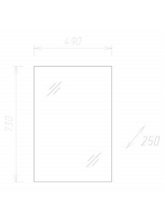 Зеркало-шкаф Onika Венеция 50.00 205014 50 см. (белое)