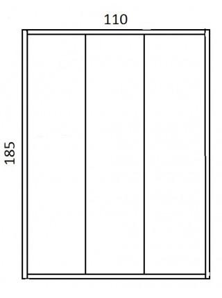 Дверь для душа River Lа Manche 110 MT 110х185 (матовое стекло)