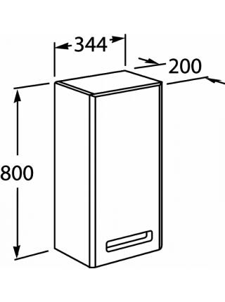 Шкаф навесной Roca Gap Z.RU93.0.288.2 (ZRU9302882) (белый, глянцевый, левый)