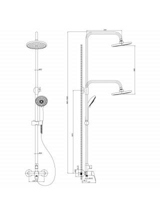 Душевая система Rossinka Серия B B35-45 (хром глянец)