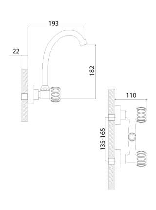 Смеситель для кухни Rossinka Серия K K02-73 (хром глянец)