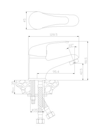 Смеситель для раковины Rossinka Серия Y Y35-11 (хром глянец)