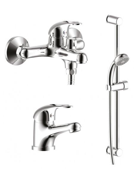 Комплект смесителей для ванной комнаты Rossinka Set 35-80 (хром глянец)